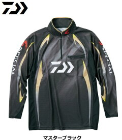 ダイワ DE-70009 スペシャル アイスドライ(R) ジップアップ長袖メッシュシャツ マスターブラック Lサイズ / ウエア (O01) (D01) (送料無料)