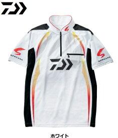 ダイワ DE-71009 スペシャル アイスドライ(R) ジップアップ半袖メッシュシャツ ホワイト XL(LL)サイズ / ウエア 【送料無料】 (SP) (D01) (O01)