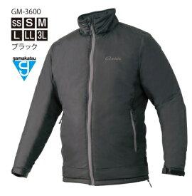 がまかつ パデットジャケット (サーモライトR) GM-3600 ブラック Lサイズ / 防寒着 ウェア (お取り寄せ商品) 【送料無料】 【セール対象商品】