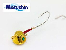 マルシン漁具 TRD一つテンヤ ゴールドメッキ×シルバーラメ 8号 / 鯛ラバ タイラバ 【メール便発送】 【セール対象商品】