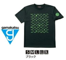がまかつ Tシャツ (ちりめん) GM-3604 ブラック LLサイズ (お取り寄せ商品) 【送料無料】 【ポイント3倍】