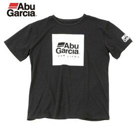 アブ ガルシア ボックスロゴドライTシャツ ブラック Mサイズ(お取り寄せ商品) (セール対象商品)