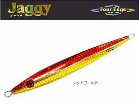 マルシン漁具 メタルジグ フォーエッジ ジャギー 150g レッドゴールド / SALE10 【メール便発送】 【セール対象商品】