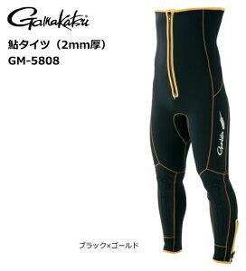 がまかつ 鮎タイツ (2mm厚) GM-5808 ブラック×ゴールド Lサイズ (お取り寄せ商品) 【送料無料】 【セール対象商品】