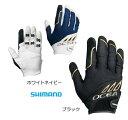 (売り切りセール) シマノ オシア ビッグゲーム サポートグローブ GL-292Q ホワイトネイビー Lサイズ (メール便可)