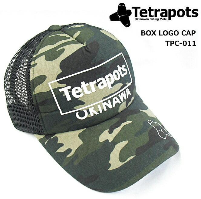 テトラポッツ ボックスロゴキャップ TPC-011 カモ フリーサイズ / 帽子
