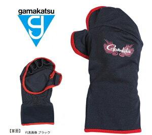 がまかつ 鮎用グローブ (手甲) GM-7244 ブラック LLサイズ / 手袋 【お取り寄せ商品】 【メール便発送】 【セール対象商品】