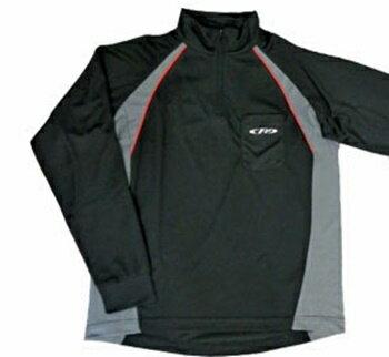 エクセル◆ドライシャツ長袖FP-5060(ブラック)◆