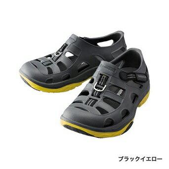 【シマノ】FS-091I エバマリンフィッシングシューズ ブラックイエロー 24cm