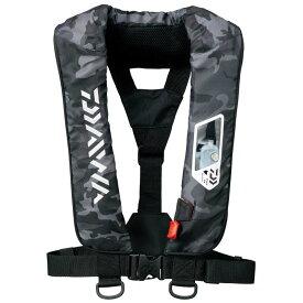 【ダイワ(Daiwa)】DF-2007 ブラックカモ フリー ウォッシャブルライフジャケット(肩掛けタイプ手動・自動膨脹式) A検定 桜マーク