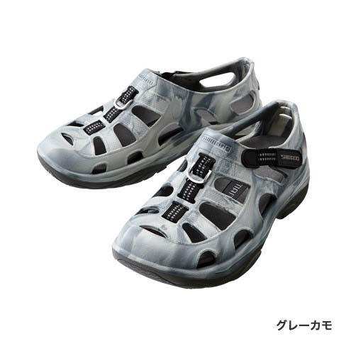 【シマノ(SHIMANO)】FS-091I グレーカモ 23.0 エバーマリンフィッシングシューズ