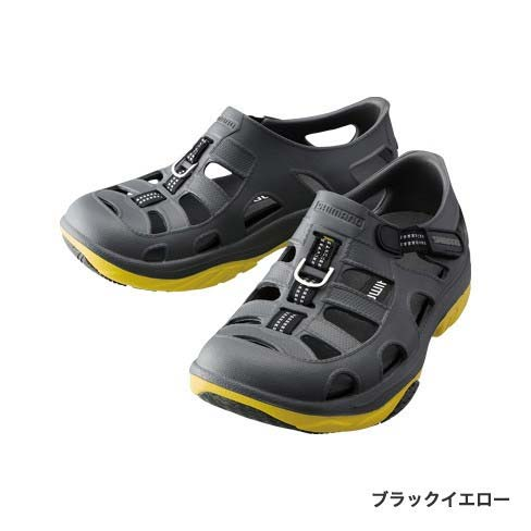 【シマノ(SHIMANO)】FS-091I ブラックイエロー 23.0 エバーマリンフィッシングシューズ