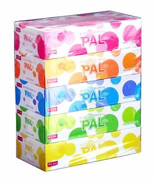 エムズワン ピュアパルプ100%ティシュ PAL パル ボックスティッシュ (200組:400枚×5箱)