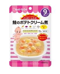 キューピー ベビーフード HA-6 ハッピーレシピ 鮭のポテトクリーム煮 おかず レトルトパウチタイプ (80g) アレルギー特定原材料7品目不使用 9ヶ月頃から