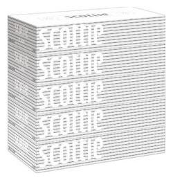 日本製紙 クレシア スコッティ ティシュー (400枚(200組)×5箱パック) ボックスティッシュ