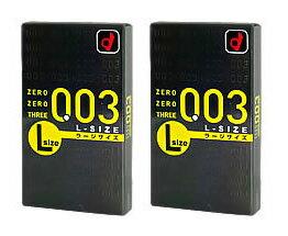 《セット販売》 オカモト 003 ゼロゼロスリー Lサイズ (10個入)×2個セット コンドーム 【送料無料】 【smtb-s】 ツルハドラッグ