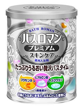 アース製薬 バスロマン プレミアム スキンケア バニラフローラルの香り (680g) 薬用入浴剤 【医薬部外品】 ツルハドラッグ