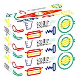 日本製紙 クレシア スコッティ キッチンタオル ボックス (150枚(75組)×3箱パック) キッチンペーパー ツルハドラッグ