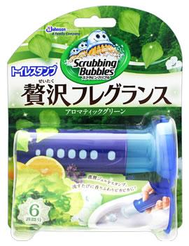 【特売】 ジョンソン スクラビングバブル トイレスタンプ 贅沢フレグランス アロマティックグリーンの香り 本体 (38g) ツルハドラッグ