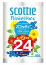 【◇】 日本製紙 クレシア スコッティ フラワーパック 2倍巻き シングル (12ロール) トイレットペーパー ツ…