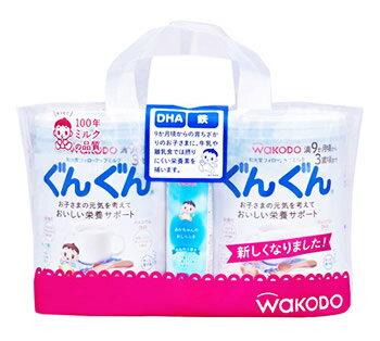 和光堂 フォローアップミルク ぐんぐん 9ヶ月頃から (830g×2個) 2缶パック おしりふき 50枚入×1個付き ツルハドラッグ