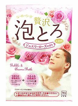 牛乳石鹸 お湯物語 贅沢泡とろ 入浴料 ジュエリーローズの香り (30g) 入浴剤 バブルバス ツルハドラッグ