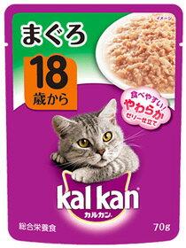 【特売】 マースジャパン カルカン パウチ 18歳から まぐろ KWP61 (70g) キャットフード