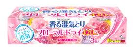 白元アース フローラルドライ 香る湿気とり フローラルブーケの香り (420mL×3個) 除湿剤