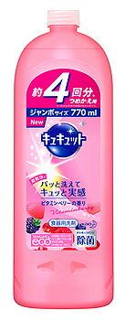 【特売】 花王 キュキュット ビタミンベリーの香り つめかえ用 (770mL) 詰め替え用 食器用洗剤