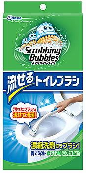 【特売】 ジョンソン スクラビングバブル シャット 流せるトイレブラシ (本体+ブラシ4コ)