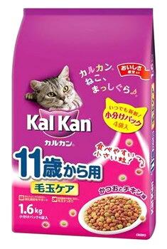 マースジャパン カルカン ドライ 11歳から用 毛玉ケア かつおとチキン味 (1.6kg) シニア猫用 キャットフード