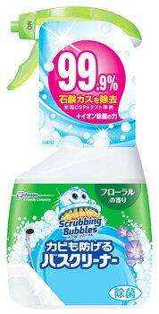 【特売】 ジョンソン スクラビングバブル カビも防げるバスクリーナー フローラルの香り 本体 (400mL) 浴室用洗剤