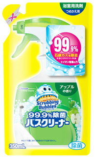 ジョンソン スクラビングバブル 99.9%除菌バスクリーナー アップルの香り つめかえ用 (350mL) 詰め替え用 浴室用洗剤