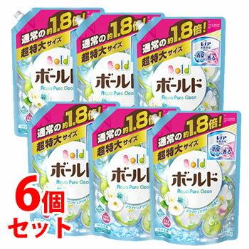 【特売】 《セット販売》 P&G ボールド 液体 アクアピュアクリーンの香り つめかえ用 (1.26kg)×6個セット 詰め替え用 超特大サイズ 柔軟剤入り洗剤 洗濯洗剤 【P&G】