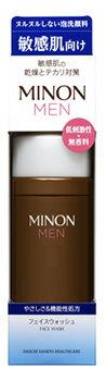第一三共ヘルスケア ミノン メン フェイスウォッシュ (150mL) 男性用 泡洗顔料