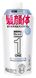 花王 メンズビオレ ONE オールインワン全身洗浄料 フルーティーサボンの香り つめかえ用 (340mL) 詰め替え用 顔・髪・体 ノンシリコン