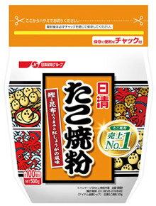 日清フーズ たこ焼粉 約100個分 (500g) 日清 たこ焼き粉