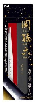 貝印 関孫六 毛抜き 先平 収納ケース付 HC3505 (1個)