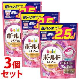 《セット販売》 P&G ボールド ジェルボール 3D 癒しのプレミアムブロッサムの香り 超ジャンボサイズ つめかえ用 (44個)×3個セット 詰め替え用 柔軟剤入り洗剤 【P&G】
