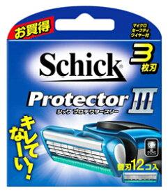 シック プロテクタースリー 替刃 (12個) カミソリ 髭剃り 3枚刃 【送料無料】 【smtb-s】