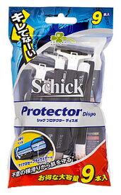 くらしリズム シック プロテクター ディスポ 首振式2枚刃カミソリ (9本) 髭剃り シェービング Schick