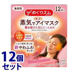 《セット販売》 花王 めぐりズム 蒸気でホットアイマスク 無香料 (12枚入)×12個セット