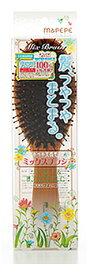 マペペ つやつや天然毛のミックスブラシ (1個) ヘアブラシ クシ
