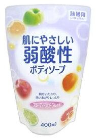 エオリア 肌にやさしい 弱酸性 ボディソープ フルティーフローラルの香り つめかえ用 (400mL) 詰め替え用