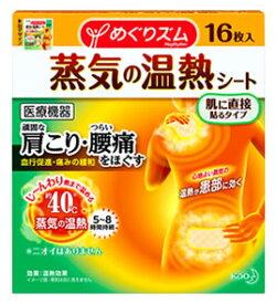 花王 めぐりズム 蒸気の温熱シート 肌に直接貼るタイプ (16枚) 【一般医療機器】