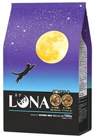 ペットライン ルナ かつお節&ほたて味とチキン味ビッツ添え (720g) LUNA キャットフード