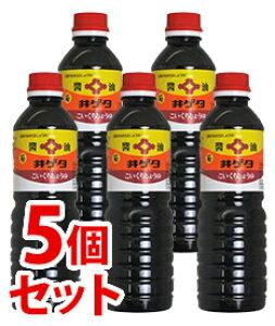 《セット販売》 井ゲタ醤油 こいくちしょうゆ 菊 (500mL)×5本セット 醤油 ペットボトル入 ※軽減税率対象商品