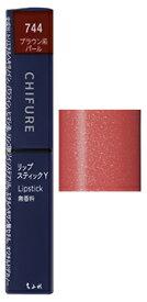 ちふれ化粧品 リップスティック Y 744 ブラウン系パール (2.5g) CHIFURE リップカラー 口紅
