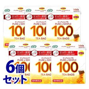 《セット販売》 ユニリーバ リプトン ピュア&シンプル ティーバック (100袋)×6個セット 紅茶 ティーバッグ Lipton ※軽減税率対象商品