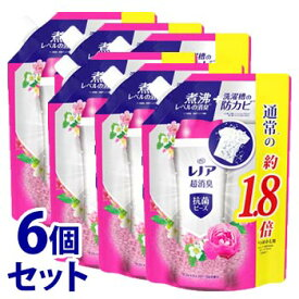 《セット販売》 P&G レノア 超消臭 抗菌ビーズ リフレッシュフローラルの香り つめかえ用 特大サイズ (760mL)×6個セット 詰め替え用 衣料用消臭剤 【P&G】